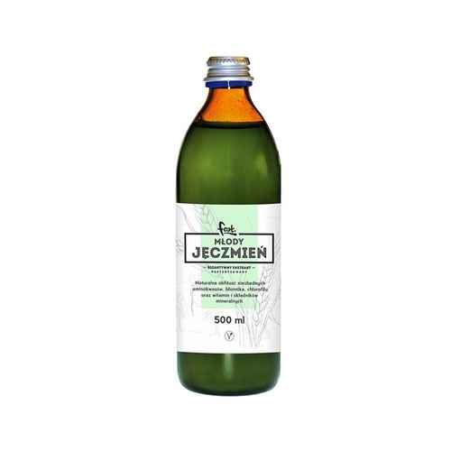 Młody jęczmień do picia - bioaktywny ekstrakt 500 ml FEAT
