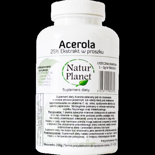 Acerola – Ekstrakt w proszku 250g
