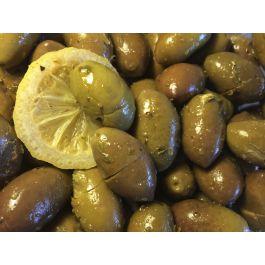 Oliwki z czosnkiem i cytryną - słoik 0,3L