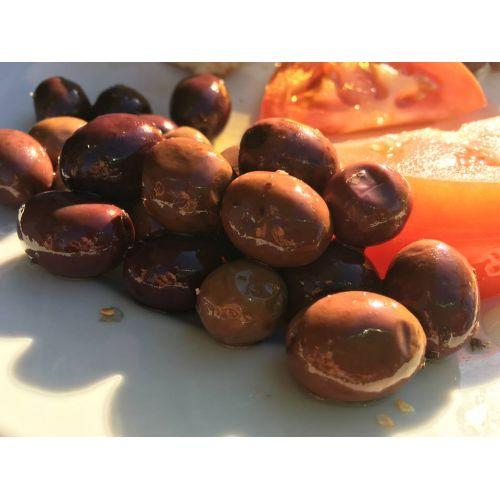 Oliwki czarne z rozmarynem i skórką pomarańczową - słoik 0,5L