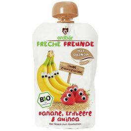 Mus Do Wyciskania Banan-Truskawka-Quinoa 100g EKO Erdbar Dla Dzieci